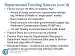 departmental funding sources con d