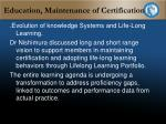 education maintenance of certification