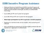 ehr incentive program assistance