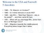 welcome to the usa and farewell 5 anecdotes
