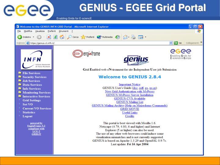 GENIUS - EGEE Grid Portal