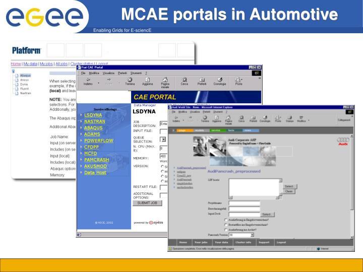 MCAE portals in Automotive