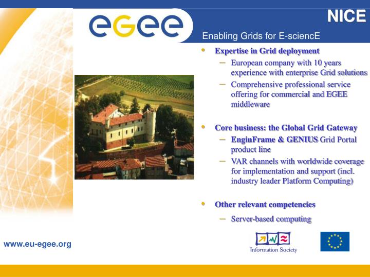 Expertise in Grid deployment