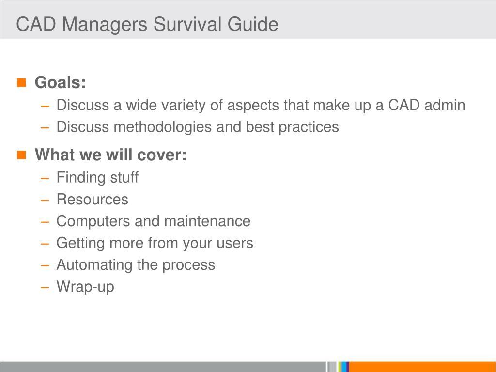 PPT - CAD Manager Survival Guide Greg Jankowski SolidWorks ...