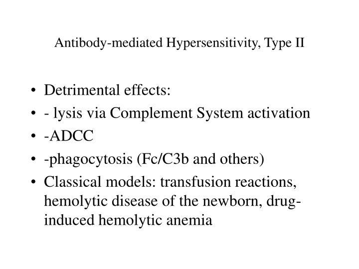 Antibody-mediated Hypersensitivity, Type II