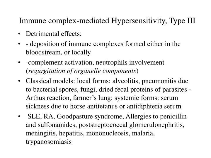 Immune complex-mediated Hypersensitivity, Type III