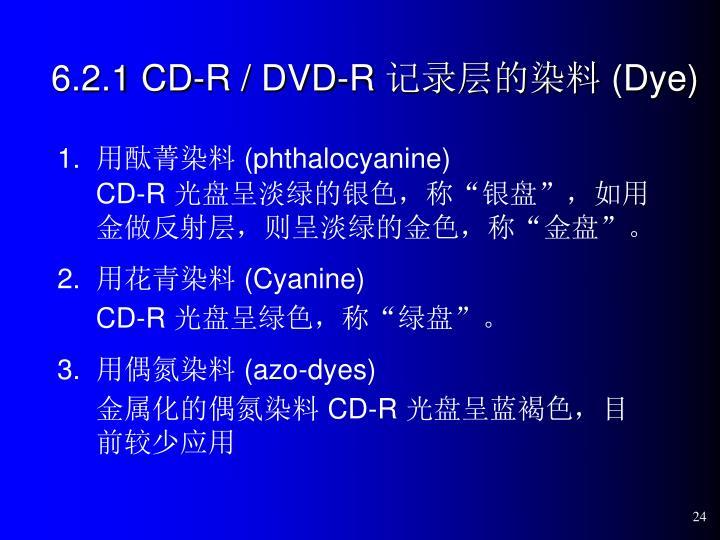 6.2.1 CD-R / DVD-R