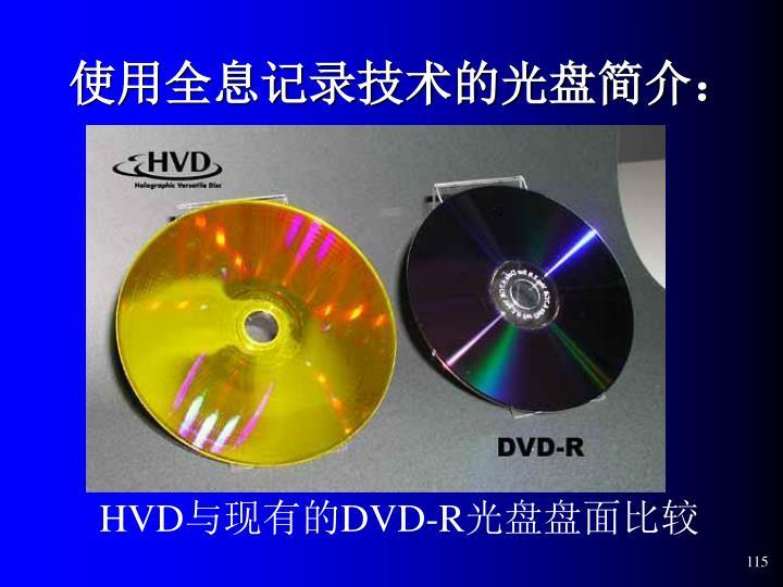 使用全息记录技术的光盘简介: