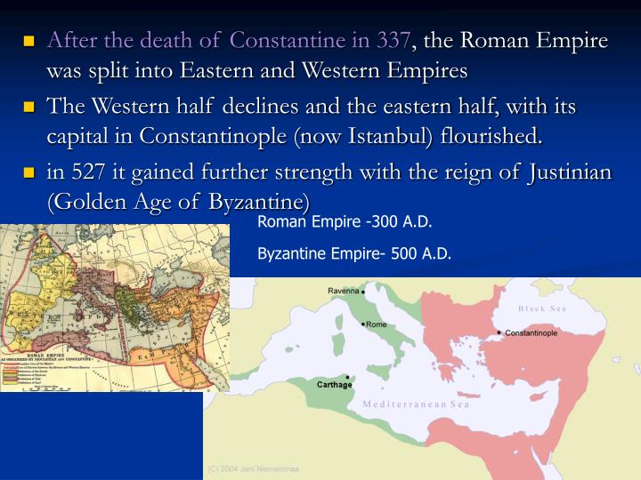 After the death of Constantine in 337
