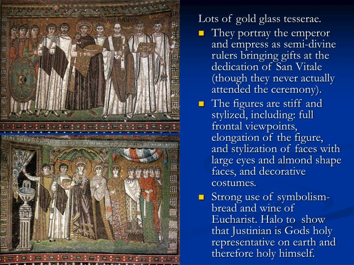Lots of gold glass tesserae.