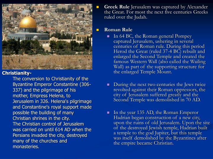 Greek Rule