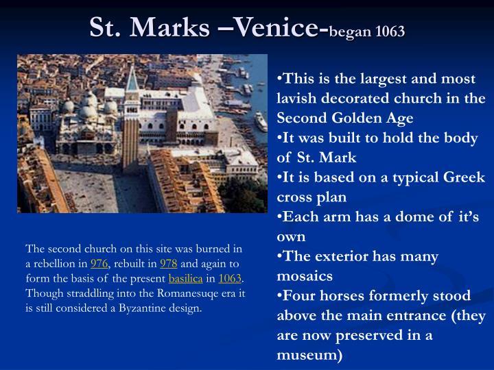 St. Marks –Venice-