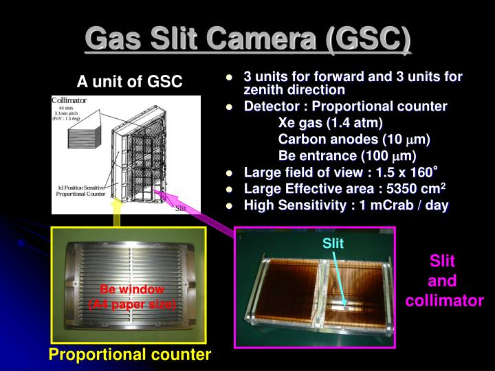 Gas Slit Camera (GSC)