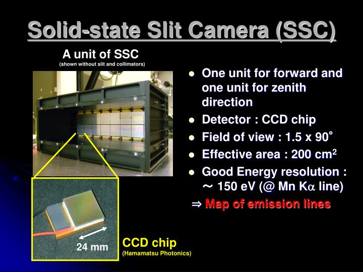 Solid-state Slit Camera (SSC)