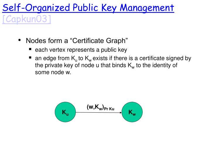 Self-Organized Public Key Management