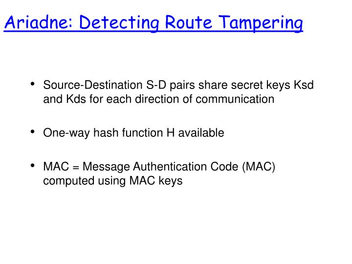 Ariadne: Detecting Route Tampering