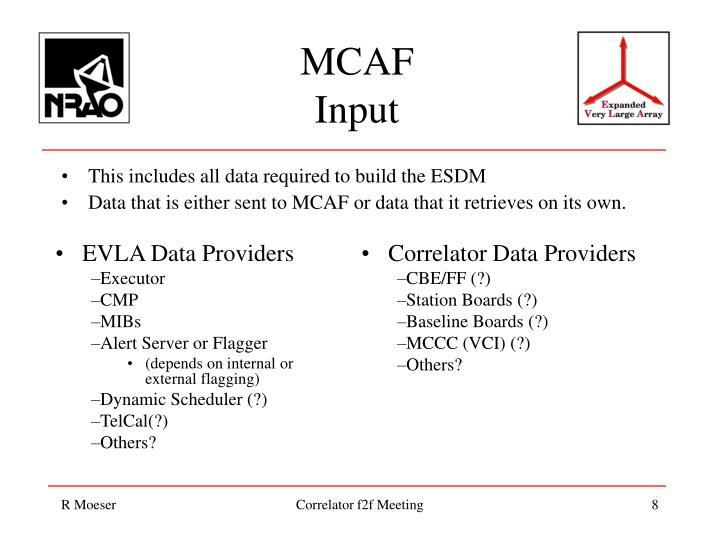 This includes all data required to build the ESDM