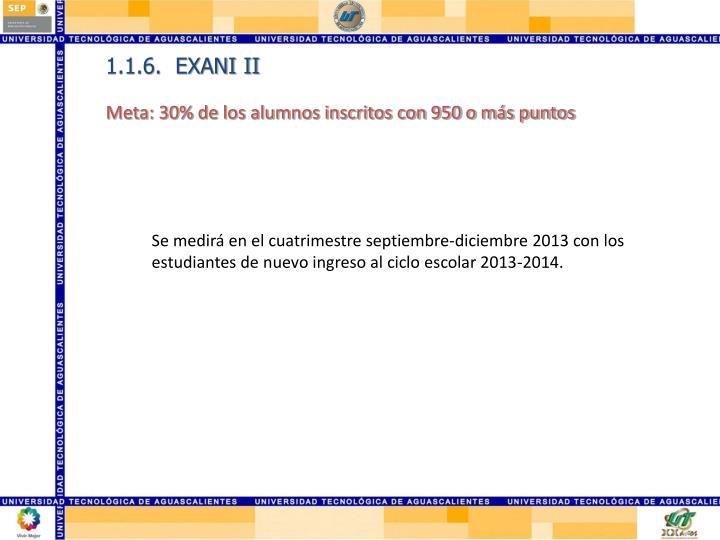 1.1.6.  EXANI II