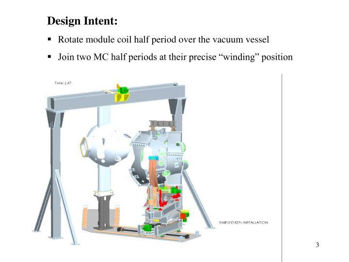 Design Intent: