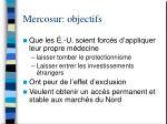 mercosur objectifs