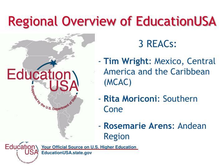 Regional overview of educationusa