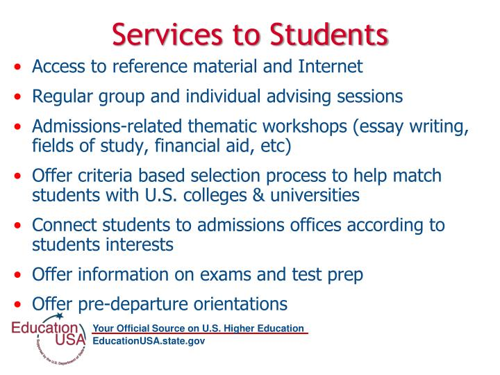 Services to Students