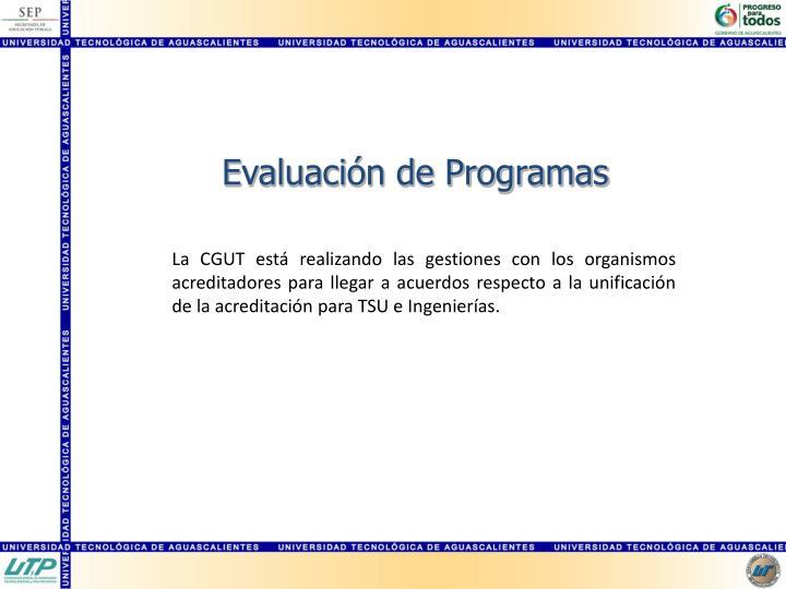 Evaluación de Programas