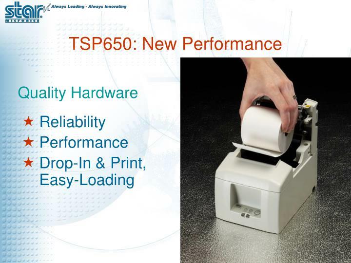 TSP650: New Performance