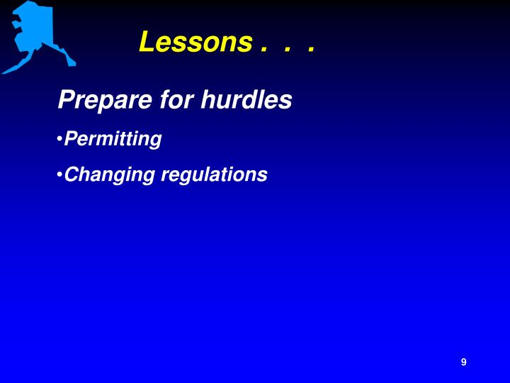 Lessons .  .  .