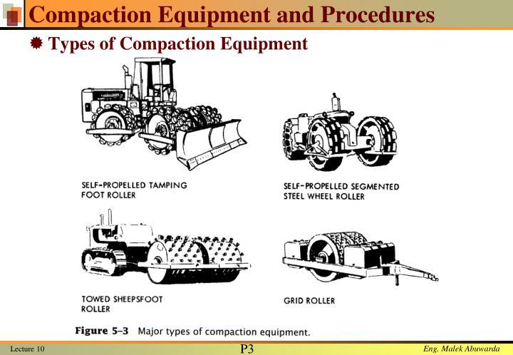 Compaction equipment and procedures1