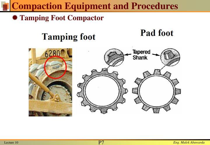 Compaction Equipment and Procedures