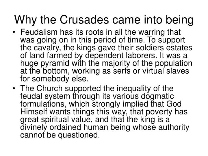 Why the Crusades came into being