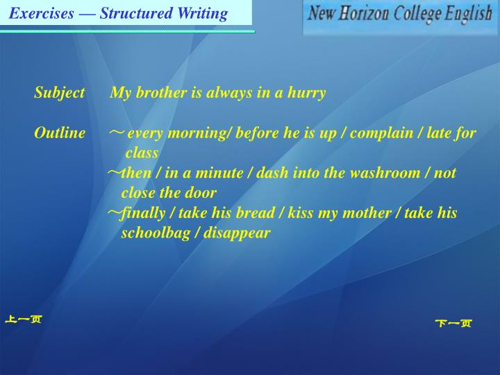Exercises — Structured Writing