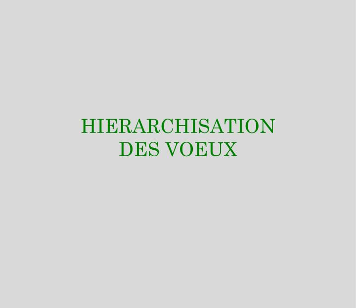 HIERARCHISATION