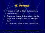 b forage