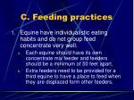 c feeding practices