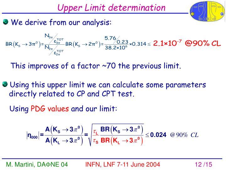 Upper Limit determination