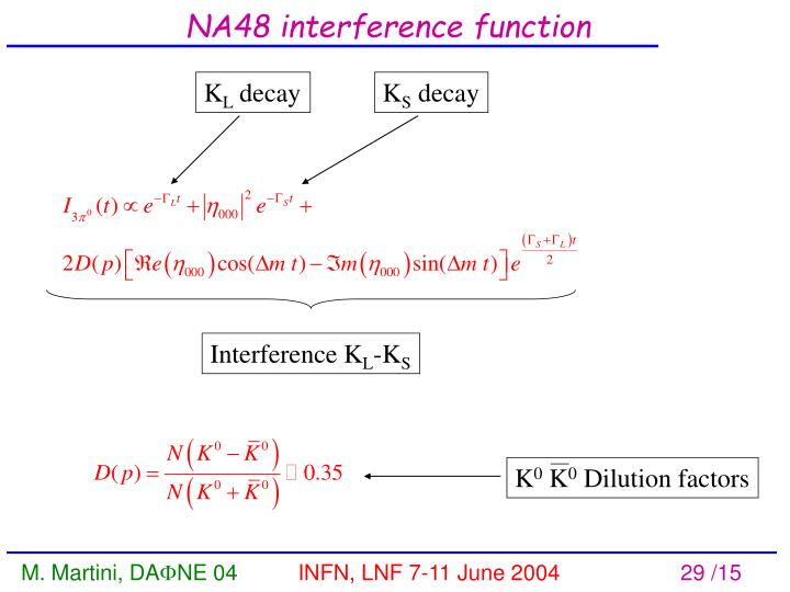 NA48 interference function