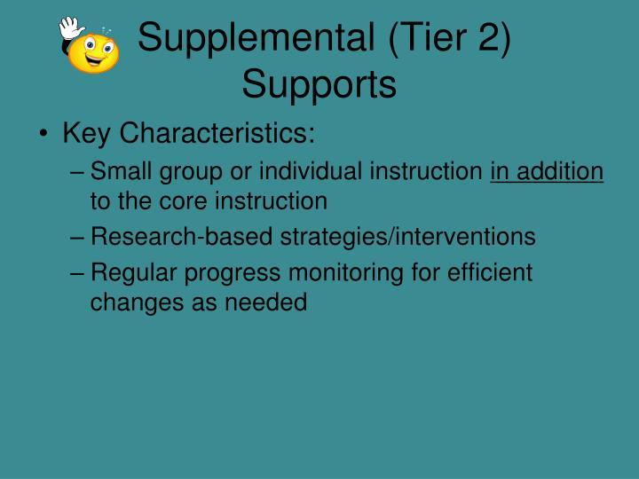 Supplemental (Tier 2)