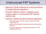 unstructured p2p systems