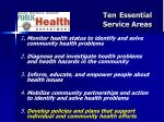 ten essential service areas
