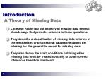 introduction a theory of missing data