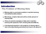 introduction the problem of missing data