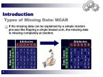 introduction types of missing data mcar