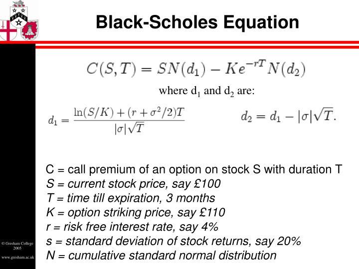 Black-Scholes Equation