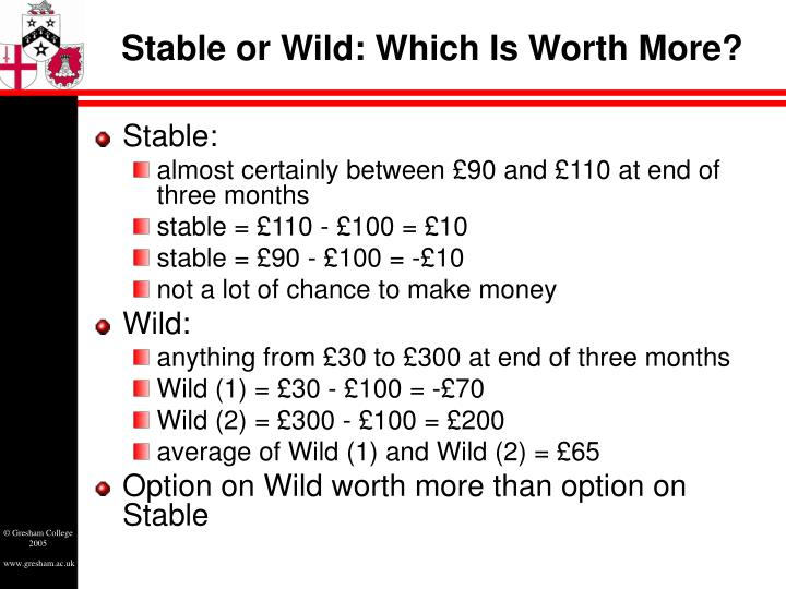 Stable or Wild: Which Is Worth More?