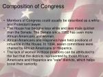 composition of congress