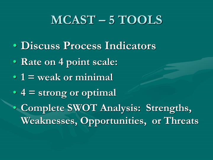 MCAST – 5 TOOLS