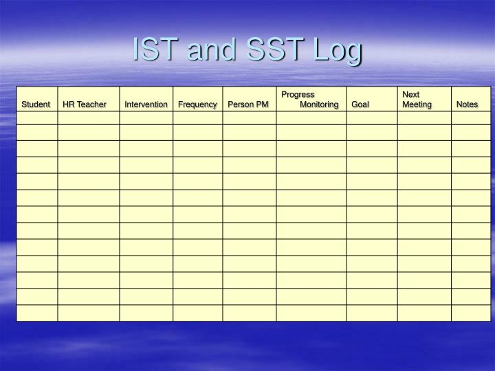 IST and SST Log