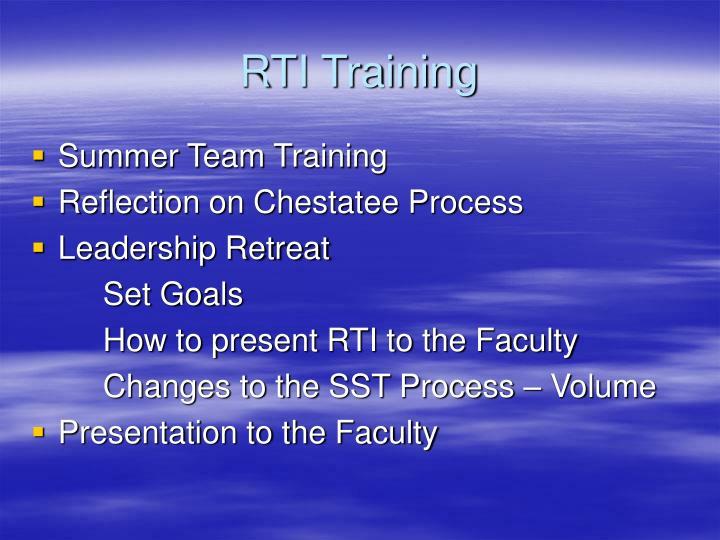 RTI Training